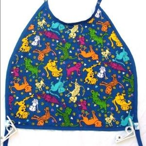 Other - NWOT Mess-less bib clips to table. Blue with cats